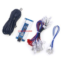 Free Shipping Zero Delay LED USB PC Joystick Encoder Controls For MAME Multicad Support 2 Pin