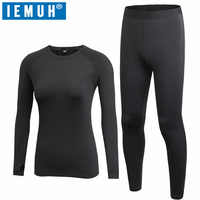 IEMUH New Autumn Winter Thermal Underwear Women Quick Dry Stretch Anti-microbial Warm Long Johns Female Casual Thermal Clothing