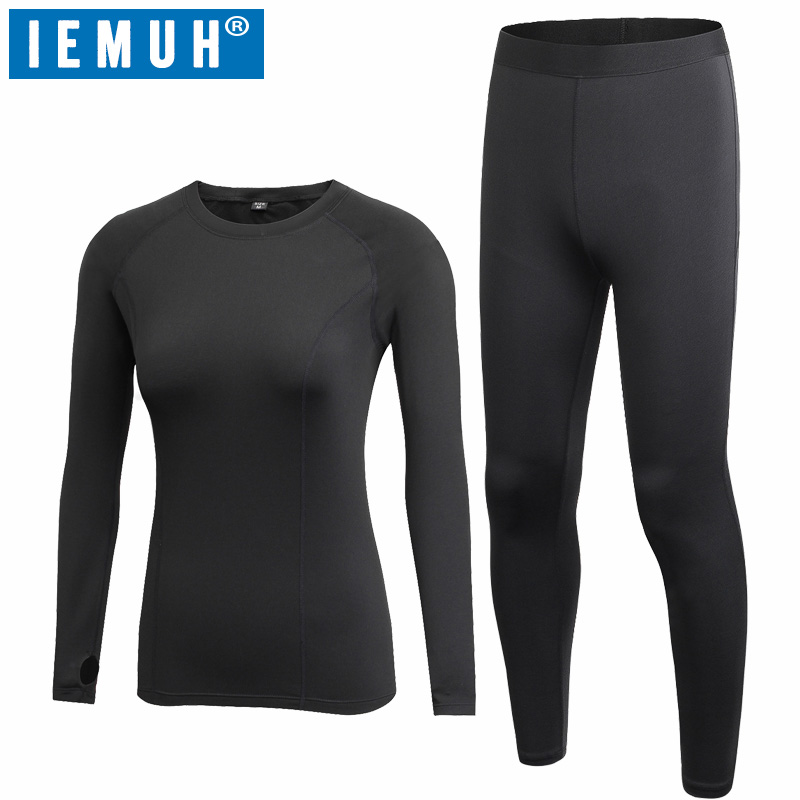 IEMUH New Autumn Winter Thermal Underwear Women Quick Dry Stretch Anti microbial Warm Long Johns Female Casual Thermal Clothing