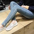 Marca Maternidade Jeans Calças Para Grávidas Plus Size Calças de Maternidade de Algodão de Alta Qualidade Mulheres Denim Jeans Grávidas LM40