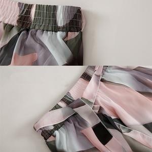 Image 5 - 2020 Streetwear Frauen Sommer Rock Elastische Hohe Taille Jupe Femme 4XL 5XL Plus Größe Röcke Midi Rosa Schwarz Bogen Druck floral Rock