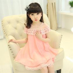 Mädchen Prinzessin Kleid Kinder Abend Kleidung Kinder Chiffon-Qualität Spitze Kleider BabyGirl Party Prom Perle Kleid 2018 Neue Sommer