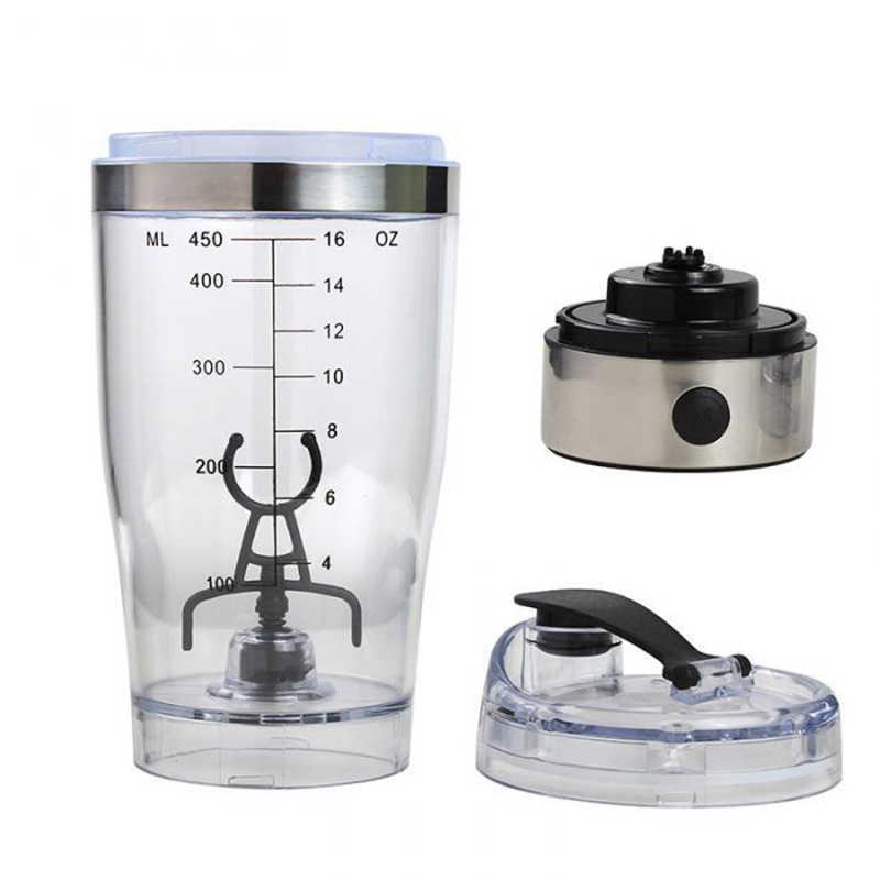 Coctelera eléctrica de acero inoxidable, nueva proteína, mezclador automático de polvo, botella de batidos, tapa a prueba de fugas, botellas de agua, hervidor de café