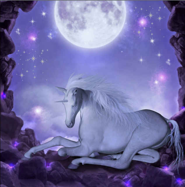 8x8ft Purple Starry Night Sky Moon Unicorn Fairy Tale
