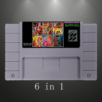 2017 New Arrive Super 6 in 1 with Breath of fire/ King of dragon 16 Bit Gray Game Card Saved For USA NTSC Game Player