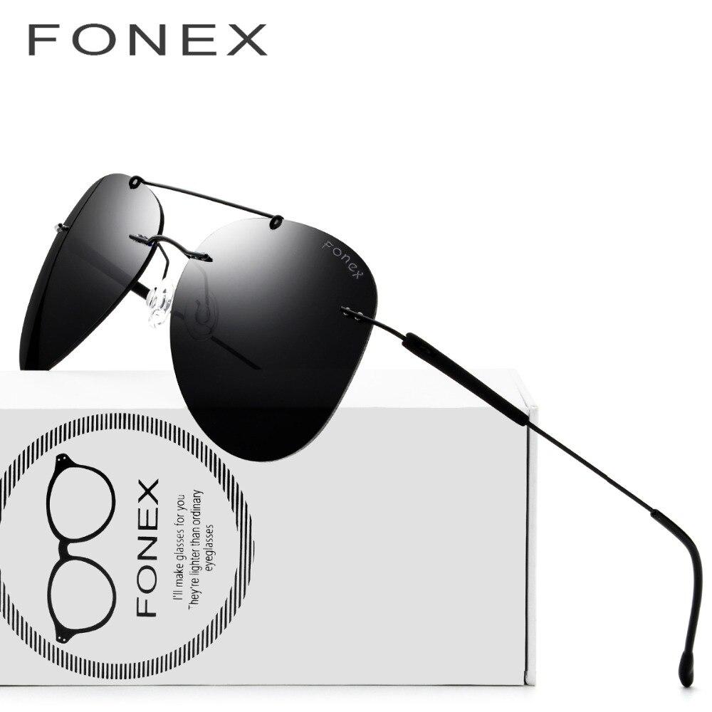 Rimless Sunglasses Titanium TR90 Women 2018 Hot Luxury Brand Designer Screwless Frameless Aviation Polarized Sun Glasses for Men
