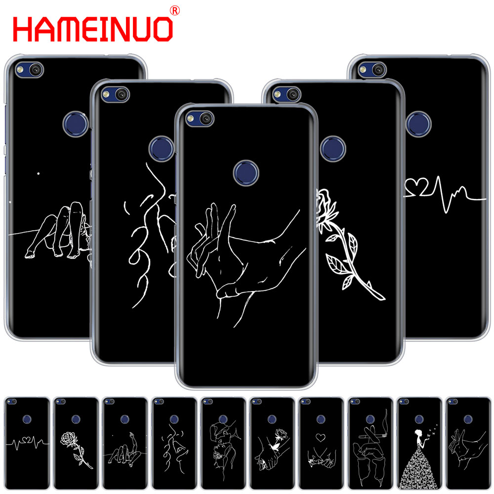 Half-wrapped Case Hameinuo Space Love Moon Astronaut Cover Phone Case For Huawei Ascend P7 P8 P9 P10 Lite Plus G8 G7 Honor 5c 2017 Phone Bags & Cases