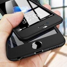 360 Derece Tam Koruyucu Telefon iphone için kılıf X 10 8 7 Artı 6 6 s 5 5 S SE Tam Kapak iPhone XS için Max XR XS Kılıfları Cam