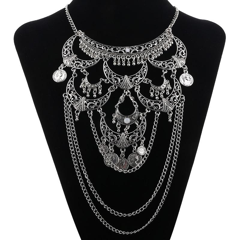 LOVBEAFAS Collares 2019 Boho Maxi Choker Collier Femme Ketting - Mode-sieraden