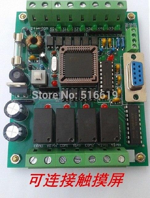 ПЛК промышленного управления доска 51 MCU управления доска FX1N 2N 10MR PLC обучения доска