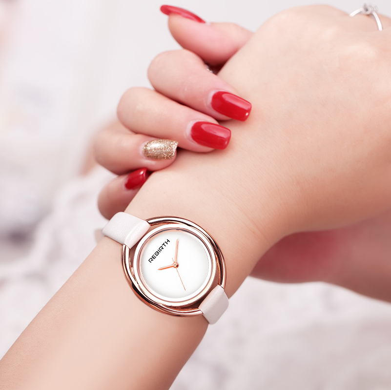 2018 REBIRTH new brand women female luxury casual fashion casual clock classic stylish business ladies wrist quartz watch gift top brand rebirth women quartz watch lady luxury fashion dress clock classic female wristwatch women gift relogio feminino