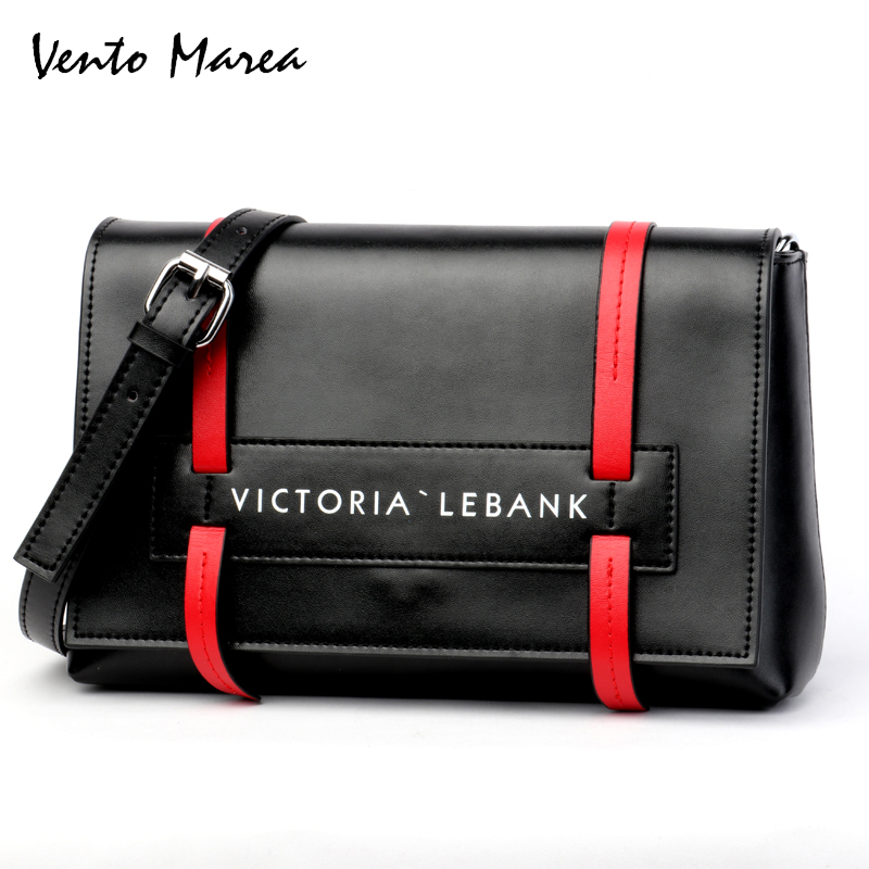 Vento Marea Women Shoulder Crossbody Bag Female Flower Black/Red Handbag For Women Messenger Bags Satchel Purse Flap