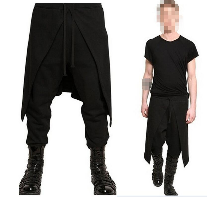 Adult Men Medieval Renaissance Lounge Loose Pants Viking Black Brown Navigator Leg Bandage Trouser Pirate Horseman Costume