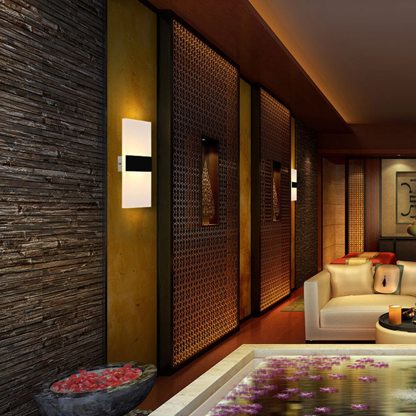 Купить с кэшбэком Modern Elegant Acrylic Led Wall Lamp AC85-265V Wall Mounted Sconce Lights lamp Bedroom Hallway Bathroom Fixture Decorative lamp
