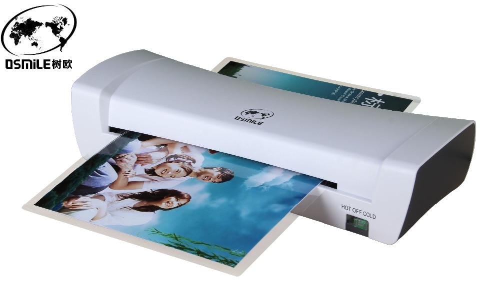 SL200 A4 Machine à plastifier à chaud et à froid Document Photo papier cartes Photo peinture plastifieuse pour le bureau à domicile ue