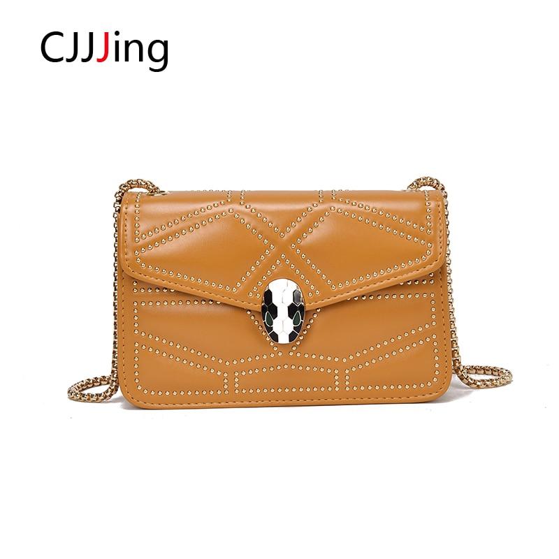 59542e57063 Casual Crossbody Bag Leather Handbag Fashion Woman s Shoulder Bag Crossbody Messenger  Bags Woman Chain Purse Wallet CJJJing