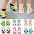 2015 New baby socks baby girls boys three-dimensional anti-slip socks new born baby infant doll socks 5 pairs/lot for 0-8 months