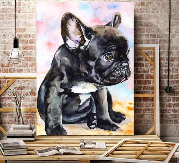Full Diamond Painting French Bulldog Diy Round Diamond Embroidery Cartoon Dog Picture Mosaic Decoration For Home Good Hobby Gift