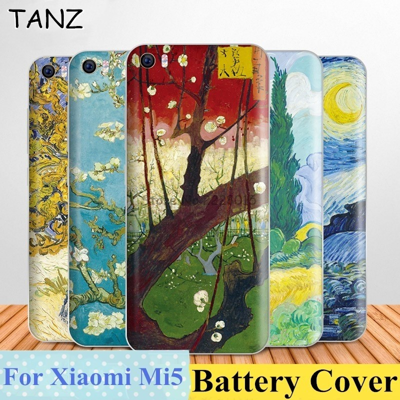 TANZ Colorful Oil Painting Scenery <font><b>mi5</b></font> <font><b>battery</b></font> Back Cases Cover Replacement For <font><b>Xiaomi</b></font> mi 5 case PC Phone Cases Accessories