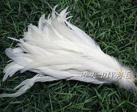 Free Shipping 50pcs 25 30cm/10 12in white Wild Rooster Tail Feathers Wholesale DIY Mask Clothing Brooch Accessories
