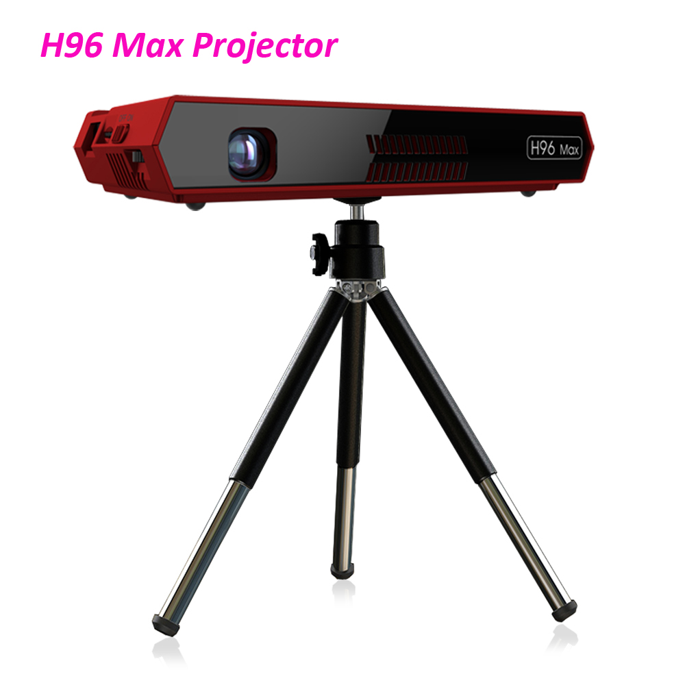2 pces h96 max mini dlp 4 k projecteur octa núcleo android portátil casa vídeo teatro bluetooth HD-IN 5g wifi caixa de tv 2gb 16gb dhl