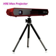 2 uds H96 Max Mini DLP 4 k proyector Octa Core Android portátil Video teatro Bluetooth HD-IN 5G WIFI TV Box 2GB 16GB DHL
