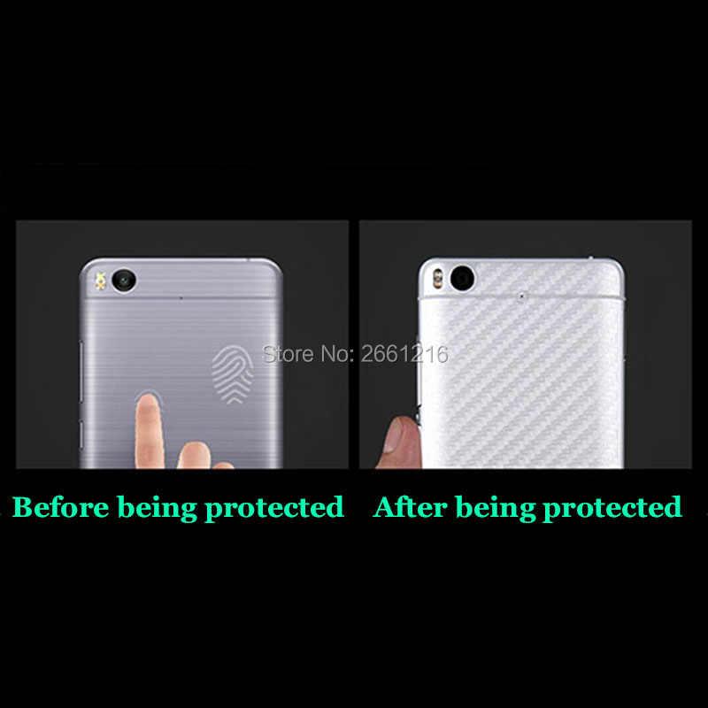 """3 adet/grup Motorola Moto G6 Artı G6 + 5.9 """"3D kaymaz Temizle Karbon Fiber Arka ekran koruyucu film koruyucu Sticker"""