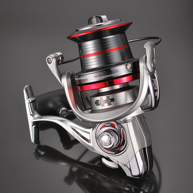 FDDL9000/10000/12000 size metal body spinning big sea surf fishing reel Jigging trolling long shot casting for carp salt water yumoshi 10000 size metal spool jigging trolling long shot casting for carp and salt water surf spinning big sea fishing reel