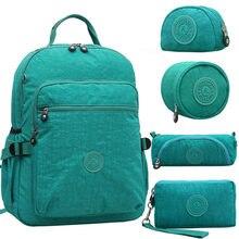 Aceperch Women Kiple Multifunction School Waterproof Nylon Backpack Mochila Escolar Travel Bag Rucksack Trekking Large Capacity