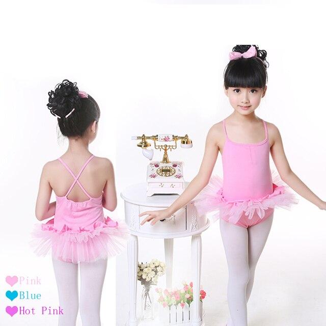 a7c79ffaa Clearance Cute Pink Camisole Dance Leotard Tutu Skirt Girls Children ...