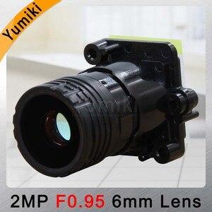 """Image 2 - Yumiki F0.95 F1.0 6mm ogniskowa obiektywu 2MP 1/2. 7 """"specjalne dla przetwornik obrazu IMX327, IMX307, IMX290, IMX291 płytką kamery moduł tablicy"""