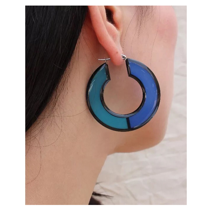 Fashion Iconic Design Cute Colorful Hoop Earrings For Women Holiday Sunshine Beach Accessories Big Modern Fancy Jewelry