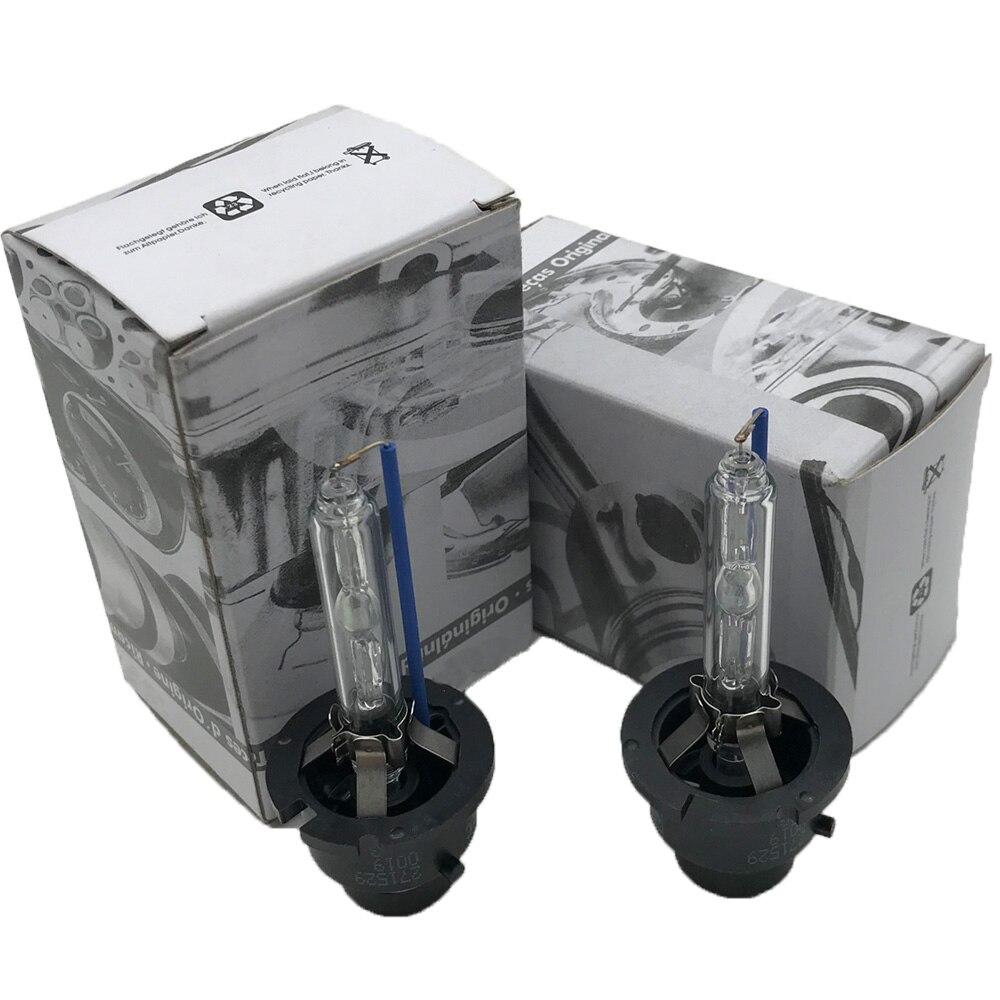 2PCS NEW OEM 2PCS 35W D1S D2S D2R D3S D4S D4R Xenon HID Bulb 4300K 5500K HID Xenon Lamp D2S Xenon Bulb For V W Audi SKODA