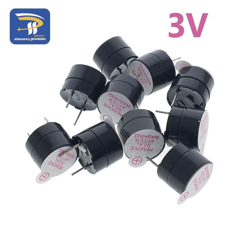 Buzzer magnético longo 3v, alarme continente longo com toque de 12mm, mini buzzers piezo ativos com 10 peças para computadores impressoras