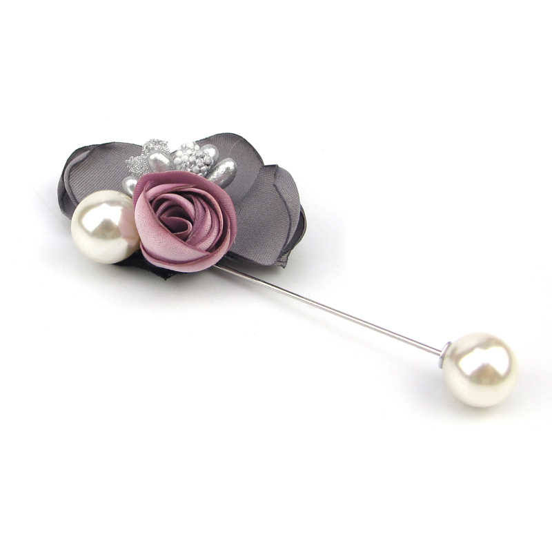 3543d3452 ... New Women Muslim Harlf Flower Design Created Pearl Brooch Lapel Scarf  Pin Suit Stick Brooches Wedding ...