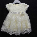 Anlencool 2017 New Baby Toddler Children Girl White Lace Party Pageant Wedding Dress Clothing high quality Newborn baby dress