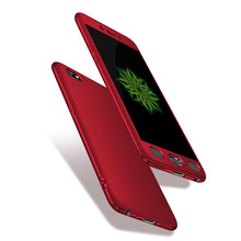 360 Derajat Ponsel Merah Cover UNTUK OPPO R7 R7s R9 R9s R11Plus R15 Mimpi R17 A71 A79 A83 + Tempered kaca Case untuk OPPO A3 A5 A7 A9(China)