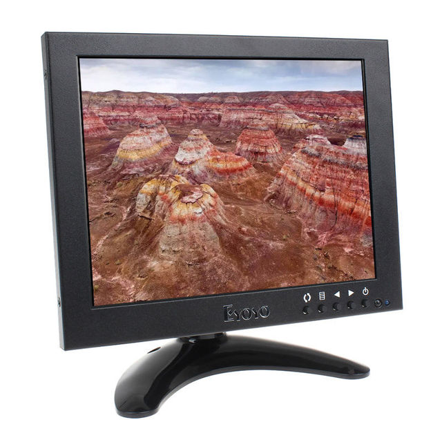 Frete grátis! 8 Polegada Casa CCTV LCD IPS HD 1024*768 Monitor De Vídeo HDMI VGA BNC Para PC laboratório