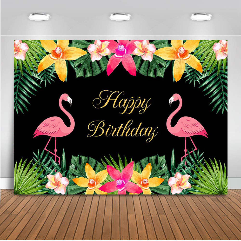 Let's Flamingle Backdrop For Photography Happy Birthday