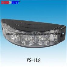 VS-1L8 светодиодный гриль strobe аварийного Предупреждение светильник, яркий лен, DC12V-24V, предупредительные стробирующие сигналы для полицейских car поверхностного монтажа мигает Строб Предупреждение светильник