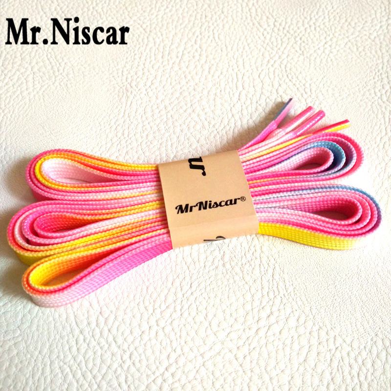 Mr.Niscar 5 Pair Men Women Canvas Shoes Shoe Laces Pink Rainbow Shoelaces Flat Gradient Shoestring Polyester Shoe Strings genuine leather cross body top handle bags embossed natural skin hobo vintage female women messenger shoulder tote handbag