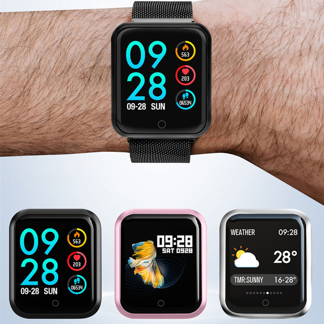 P68 Smart Watch Men Women 2019 Blood Pressure Blood Oxygen Heart Rate Monitor Sports Tracker Smartwatch IP68 Connect IOS Android 5