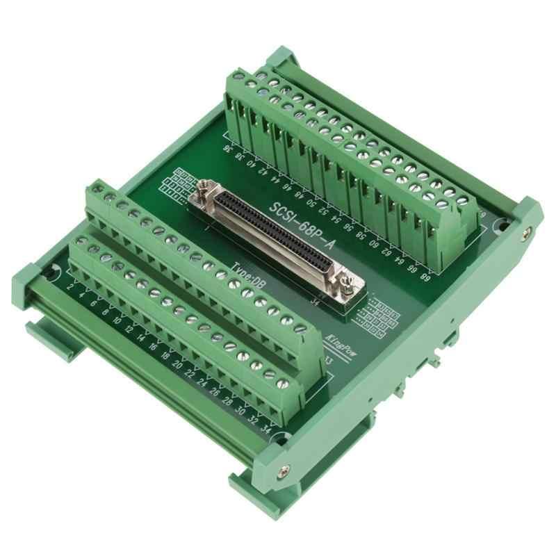1 ピース端子モジュール SCSI68 68 ピン DB タイプ雌コネクタ端子ブロックモジュールブレークアウト基板端子モジュール