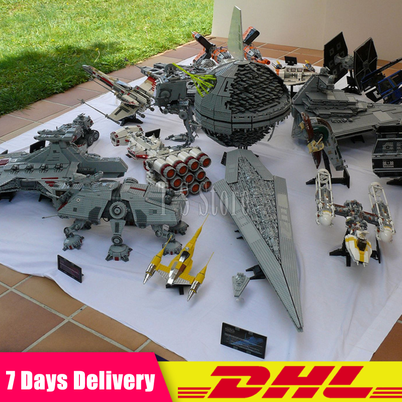 2018 DHL LEPIN Star War 05007 05026 05027 05028 05033 05034 05043 05037 05038 05039 05040 05045 05132 Building Blocks Bricks Toy 2018 dhl lepin star series war 05007 05033 05132 building blocks bricks model toys compatible 75105 10179 75192 gifts