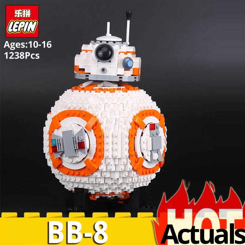 Lepin 05128 B Double B 8 Robot Set 1238Pcs legoinglys Star Plan Wars 75187 Building Blocks Bricks DIY Educational Toys kids Gift цена