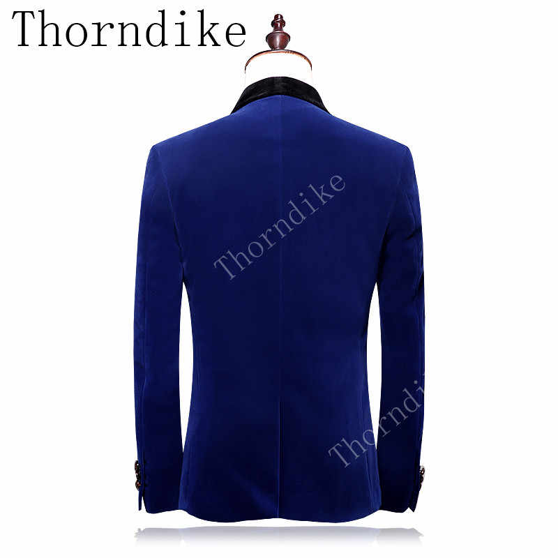 Thorndike עבה חליפות חורף ללבוש חדש הגעה חתני באיכות גבוהה חתן טוקסידו צעיף דש גברים חליפות חתונה שושבין בלייזר
