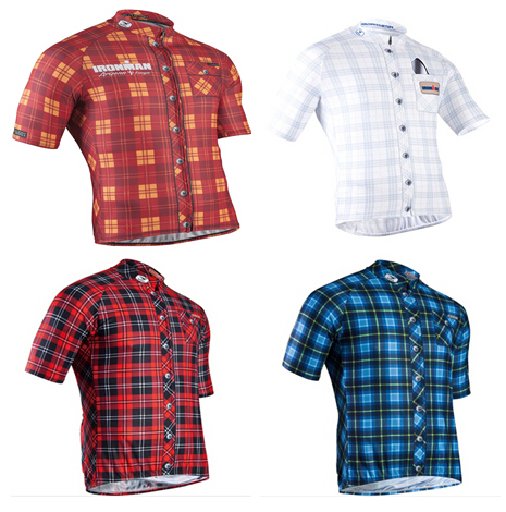 2015 hot sale Sugoi Lumberjack lattice summer bicycle novelty Plaid short  sleeve cycling jersey for man 427e249cf