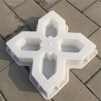 Cement Mold Pavement Stone Mold Stepping Stone Mold Reusable Concrete Mold for Patio Garden Lawn Pavement 30x30x6cm