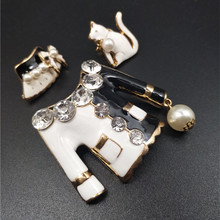 3PCS/SET Brooches Hat Cat Bouquets Corsage Luxury Brand Designer Jewelry Brooch Pins Broach For Women Lapel Pin