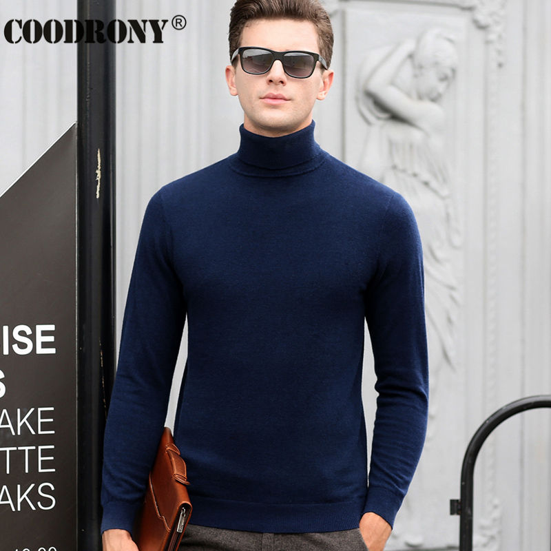 Free Shipping Fashion Classic Solid Color Turtleneck Sweater Men Winter Warm Pullover Men Slim Fit Cashmere Woolen Sweaters 6347 1